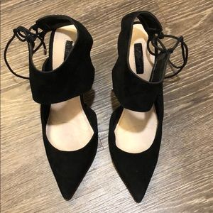 Suede Heels in Perfect Condition